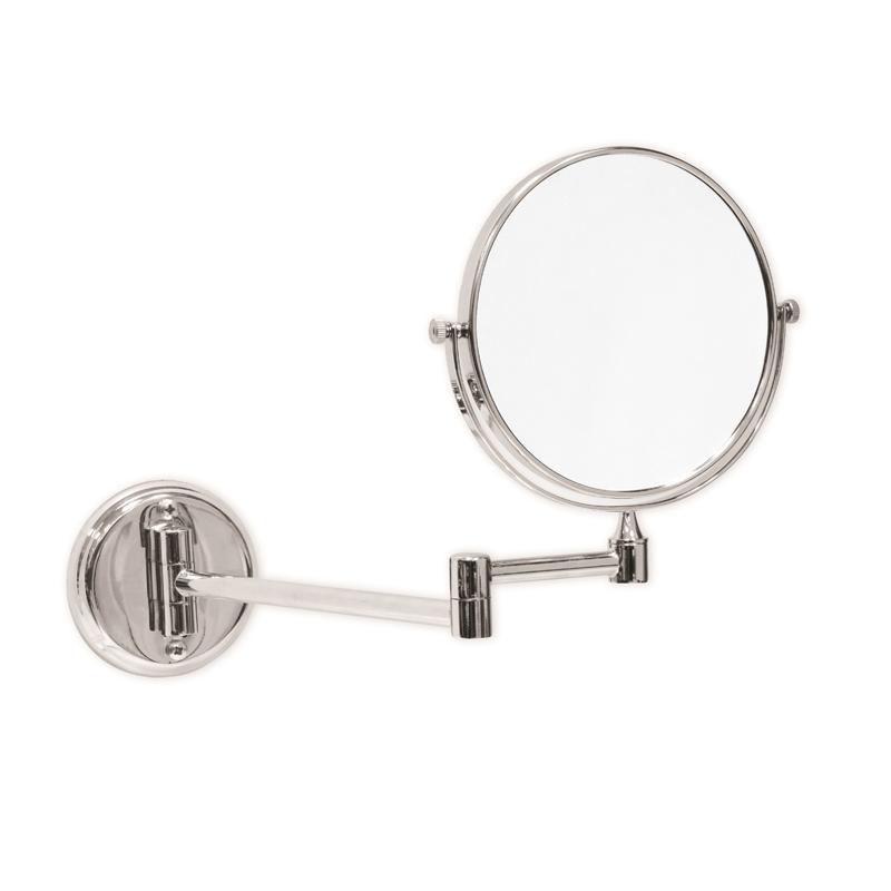 Specchio con lente vama asciugamani ed asciugacapelli ad aria calda - Specchio con lente di ingrandimento ...